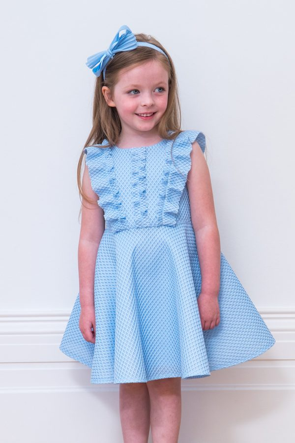 Baby Blue Ruffle Skater Dress