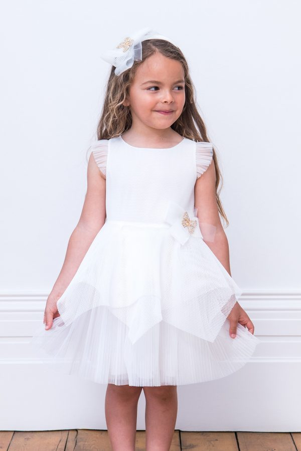 Ivory Butterfly Bridesmaid Gown