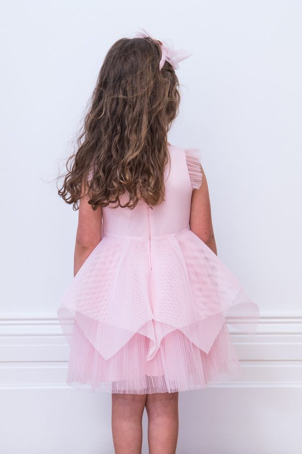 Sugar Pink Tiered Party Dress