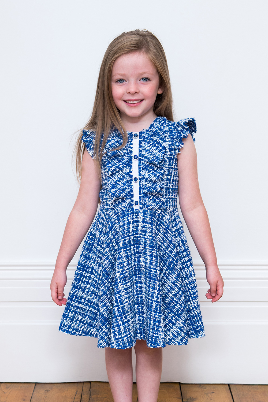 Royal Blue Tweed Dress