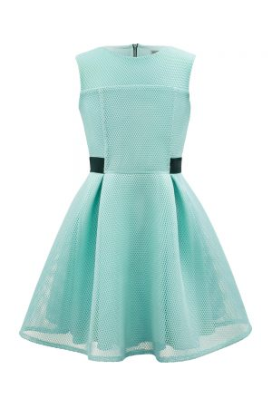 Turquoise Skater Dress