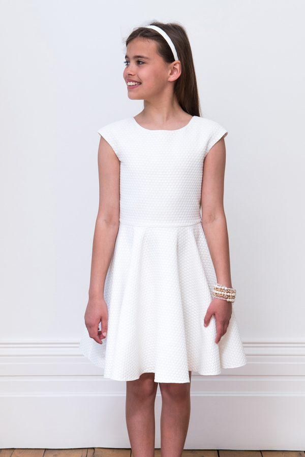 ivory criss cross bridesmaid dress