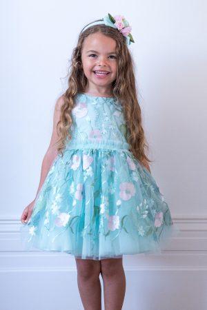 aqua bouquet birthday gown