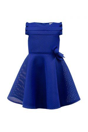 royal blue bow skater dress