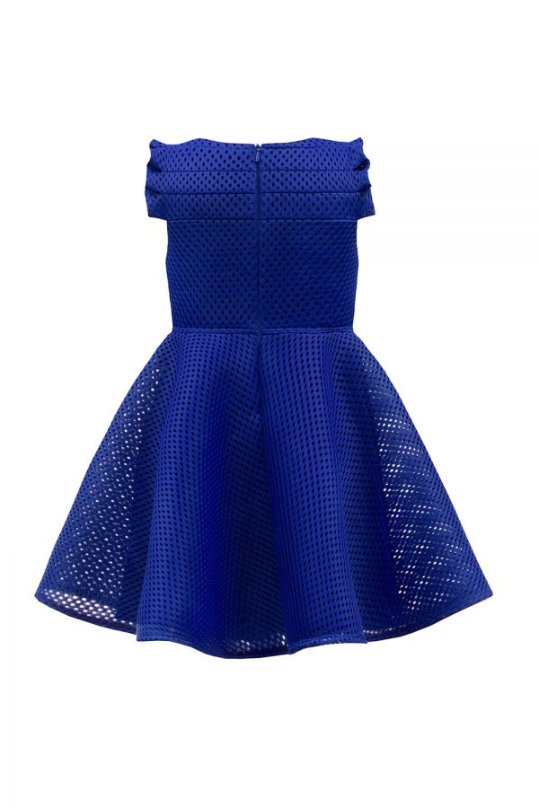 royal blue bow skater dress