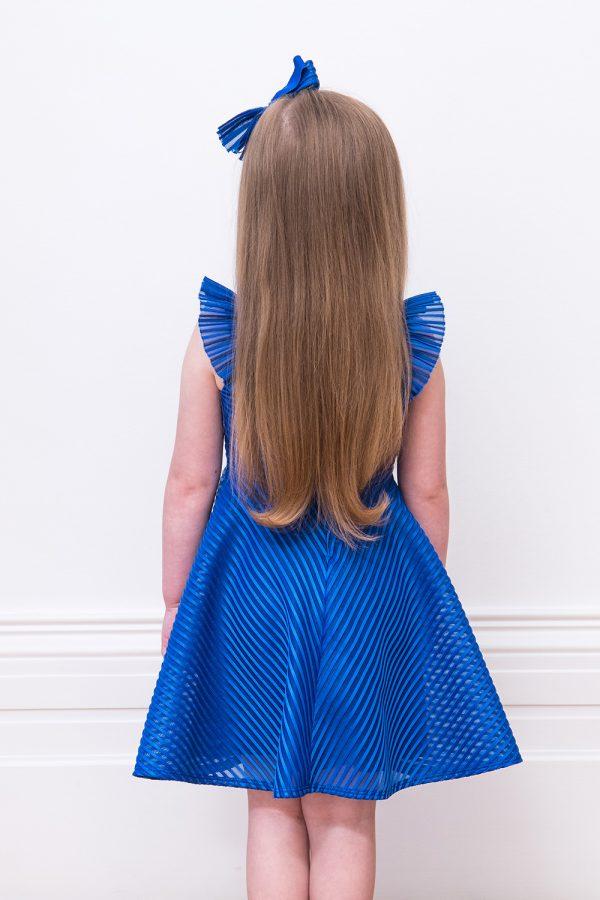 royal blue formal ruffle dress