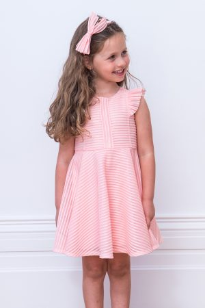 sugar pink formal frill dress