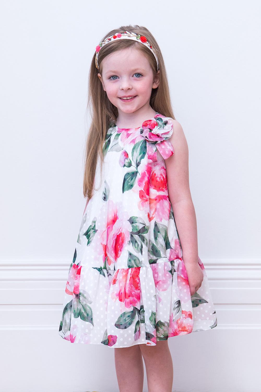 b356e63d77a7 Φόρεμα Κόμματος Ελεφαντοστού - David Charles Παιδικά Φορέματα
