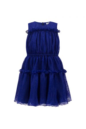 royal blue ruffle summer dress