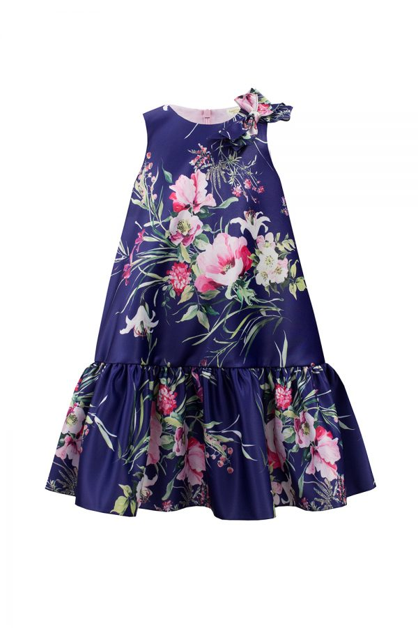 royal blue floral shift dress