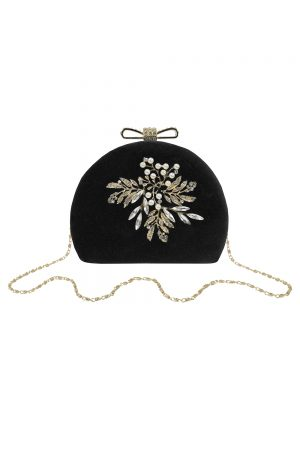 black velvet dome bag