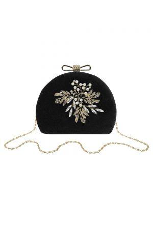 black velvet dome bag