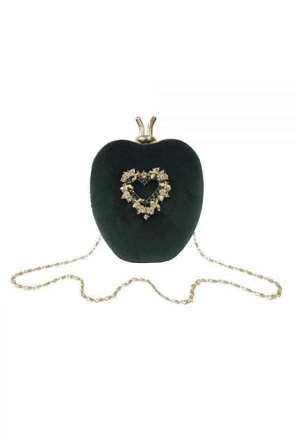 green apple clutch bag