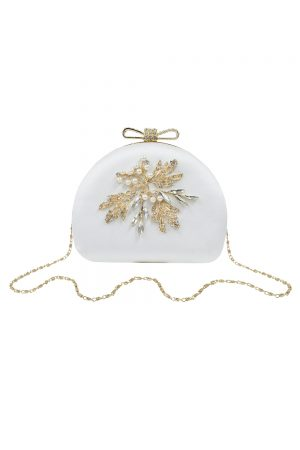 ivory jewel dome bag