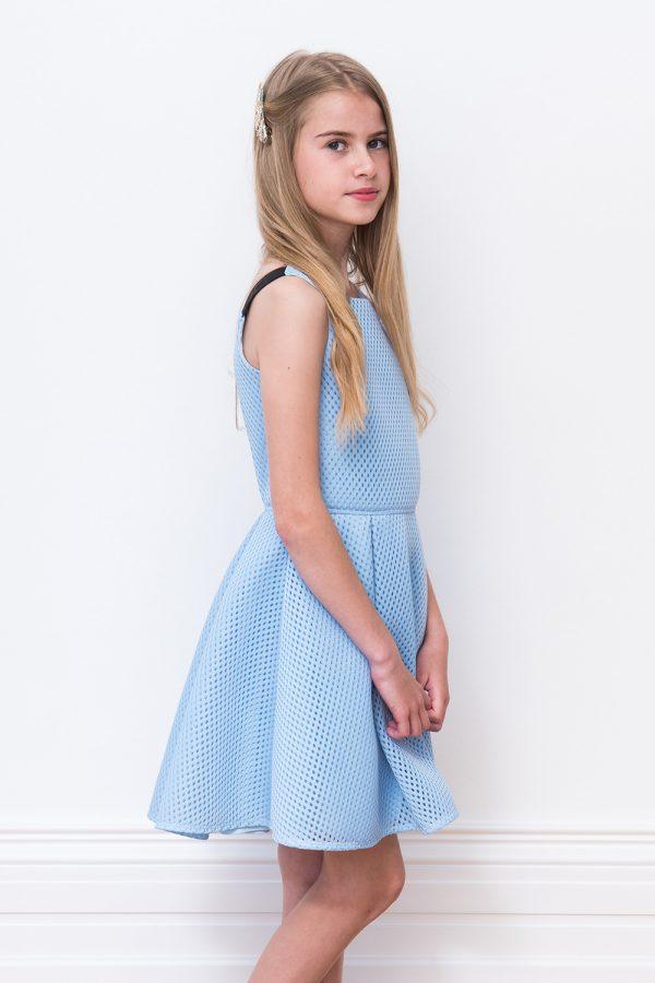 blue spring birthday dress