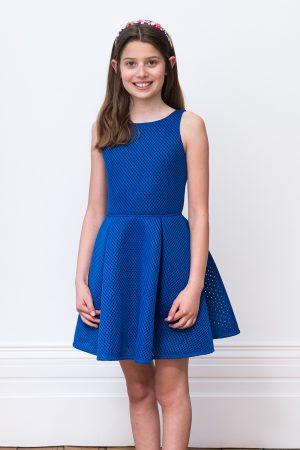 royal blue summer prom dress