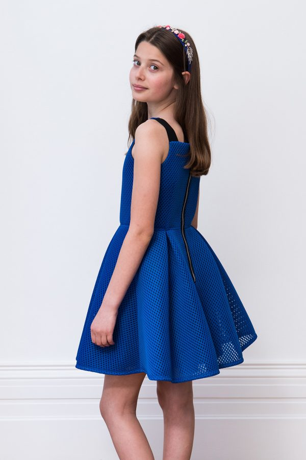 royal blue summer prom dress