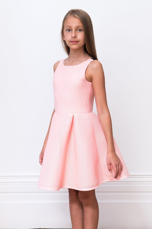 pink contrast skater dress