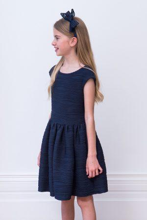 abstract navy swirl dress