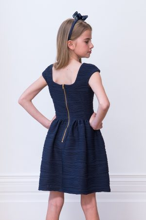 8c658272 Abstrakt Navy Swirl Dress - David Charles Childrens Wear