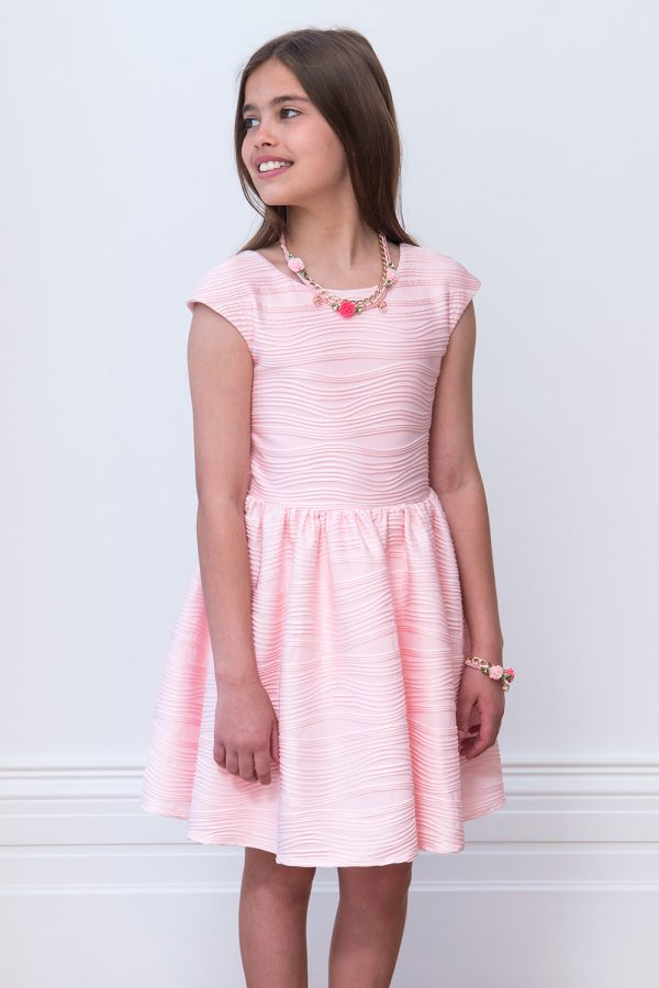 rose pink birthday dress