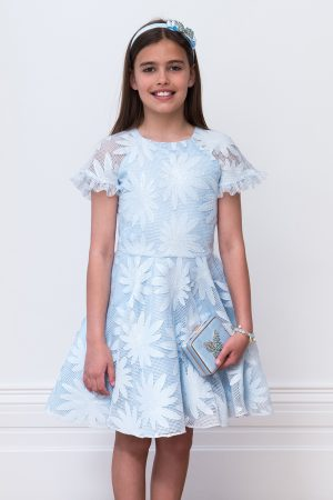 blue luxury bridesmaid dress