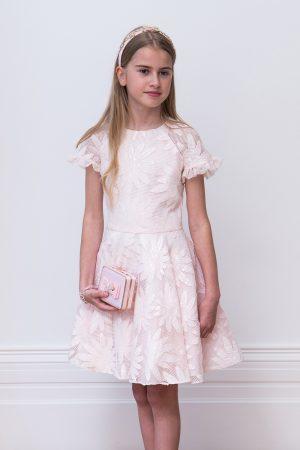 powder pink bridesmaid dress
