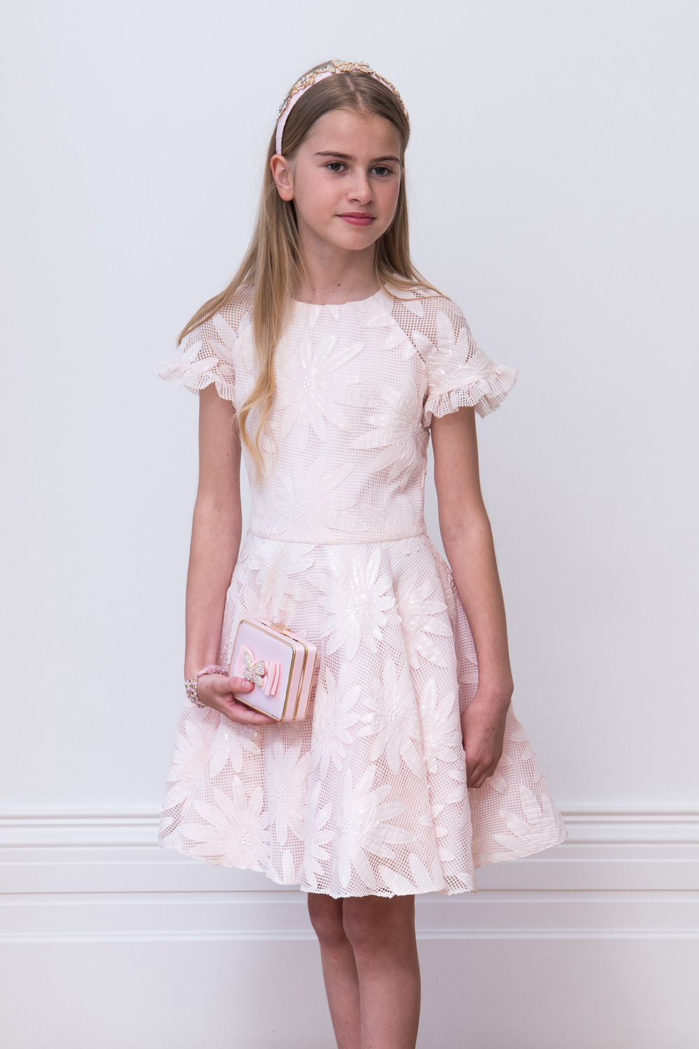 Lace Junior Bridesmaid Dresses - David Charles Childrens Wear