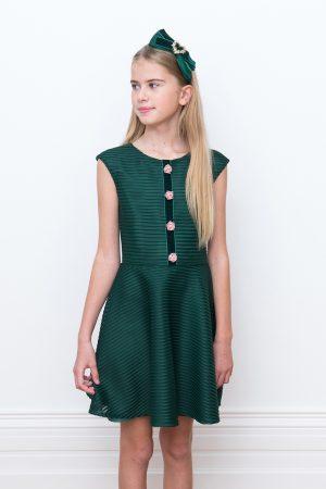 green rose trim birthday gown