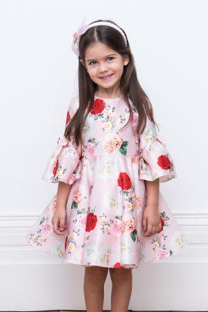 pink rose garden gown