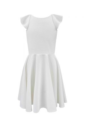 ivory frill back bridesmaid dress