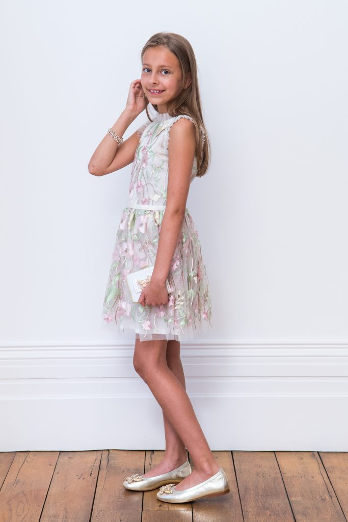 Embroidery and Lace girls dress