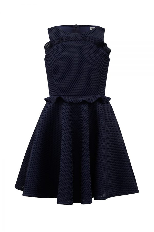 formal navy blue dress