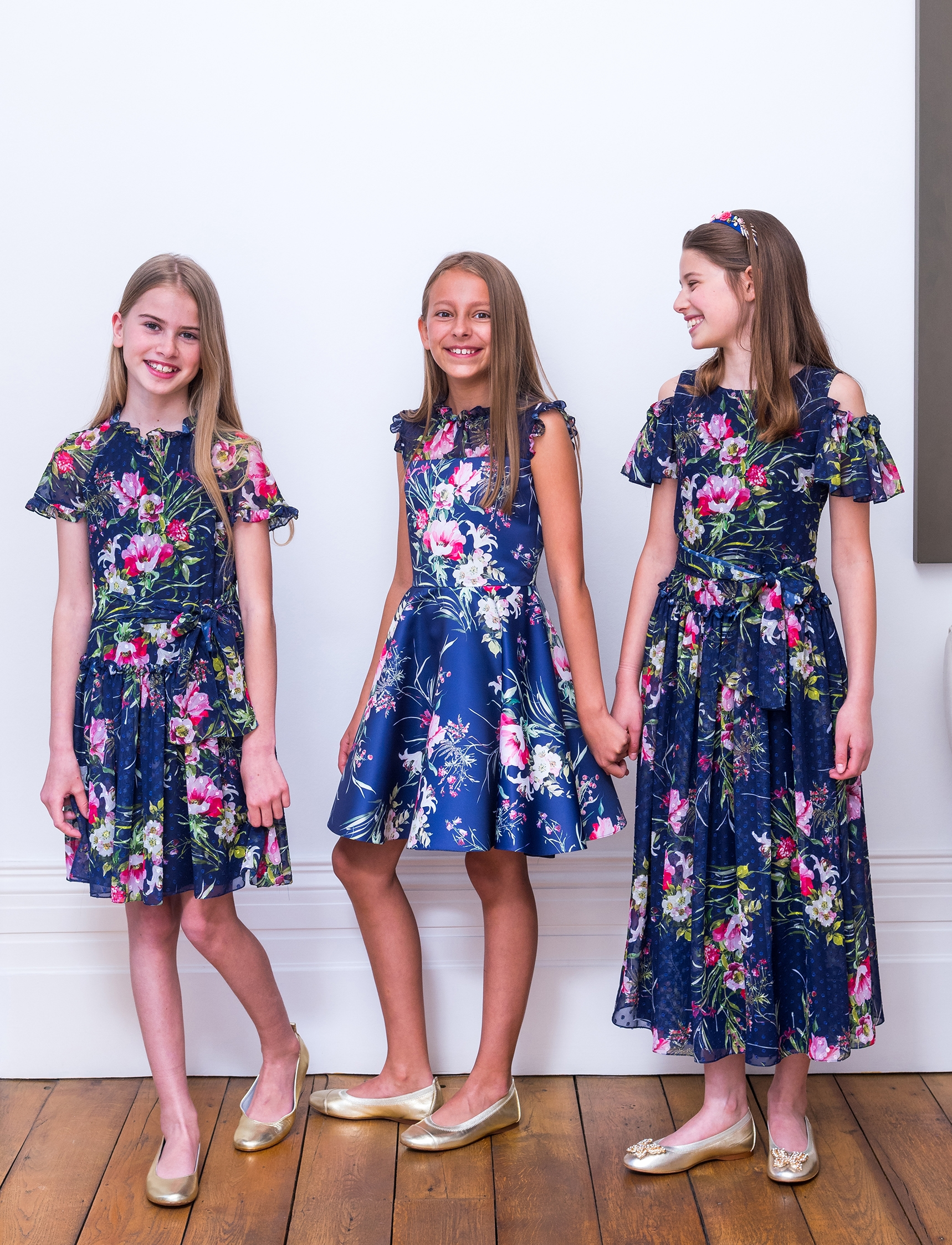 Floral design girls dress
