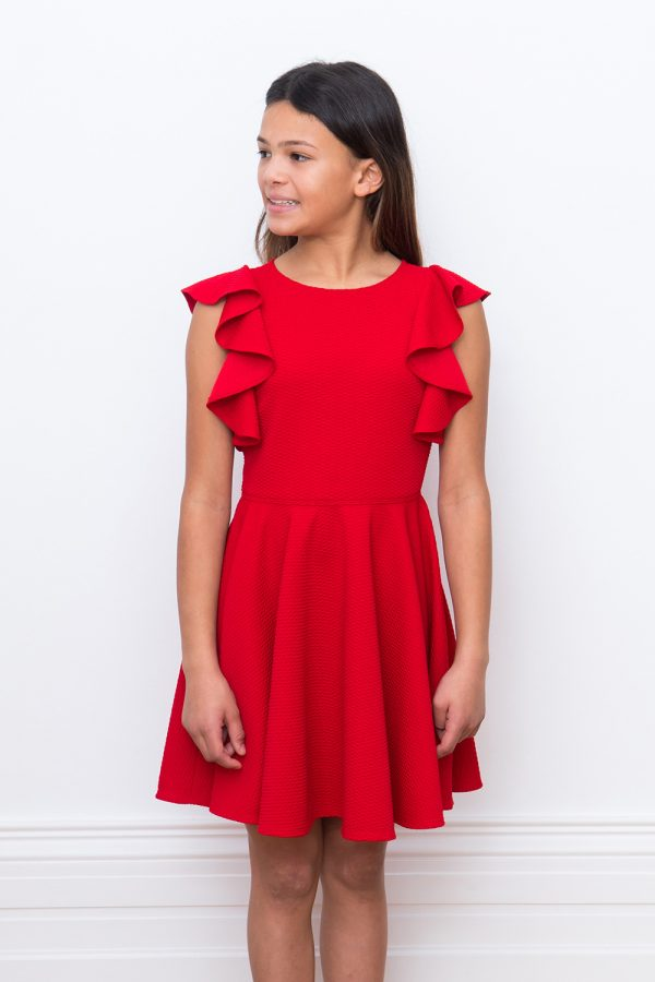 red ruffle birthday dress