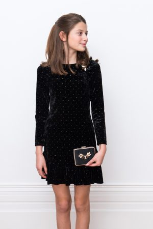 long sleeve black dress