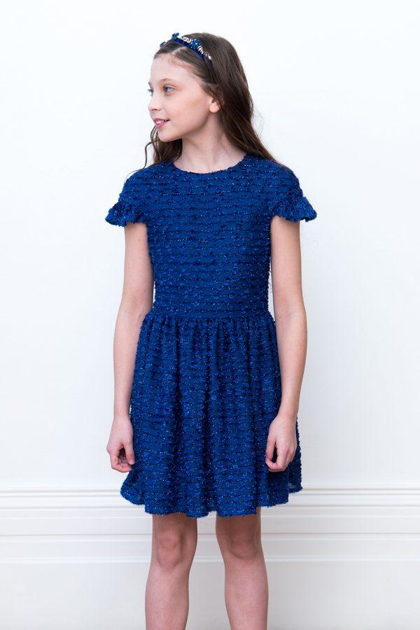 royal blue celebration gown