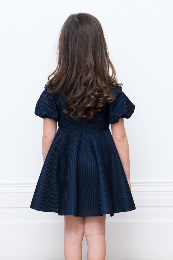 bejewelled navy party dress