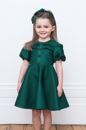 jewelled green birthday gown