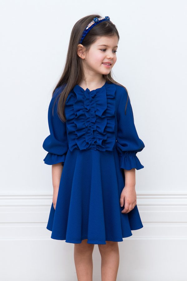 royal blue occasion dress