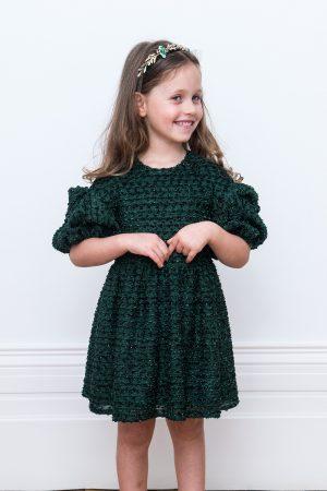 glistening green fairytale gown
