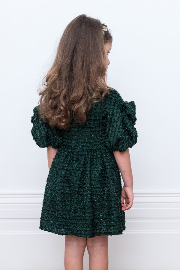 glistening green fairytale gown