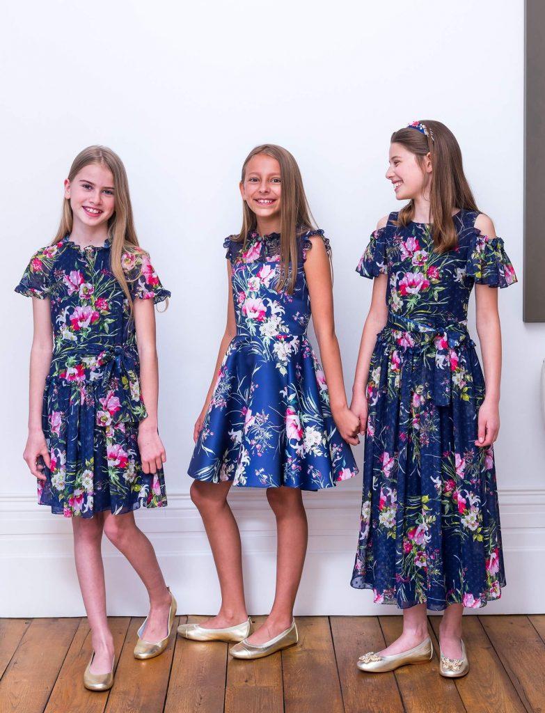 Floral design girls dress - childrens fashion trend