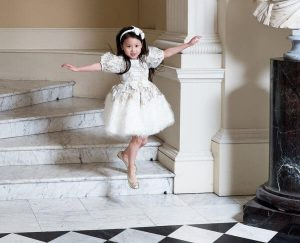 Luxury children white clothes