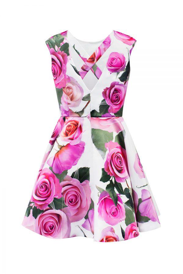 pink rose birthday dress