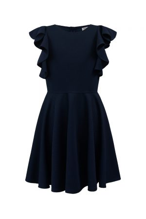 navy waterfall party dress