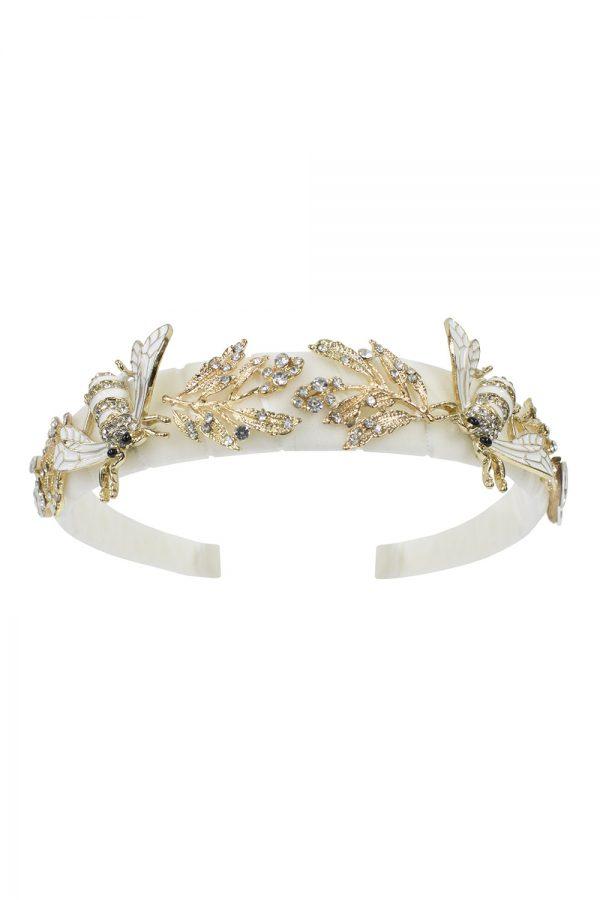 ivory bee hair band