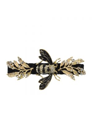 black jewelled bee hair clip