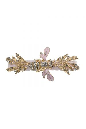 pink jewel bee hair clip