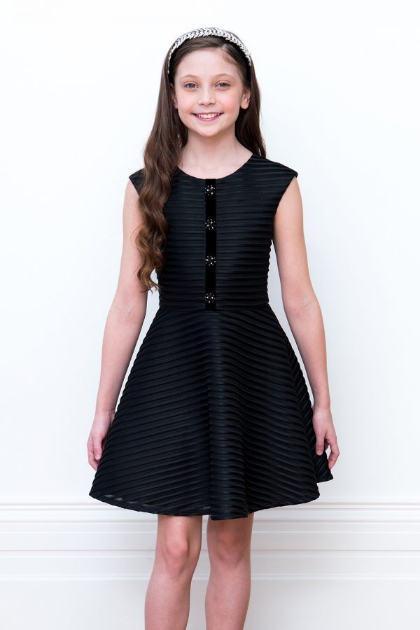 black jewel party dress